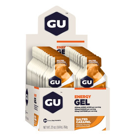 GU Energy Gel - Nutrition sport - Salted Caramell 24x 32g beige/orange